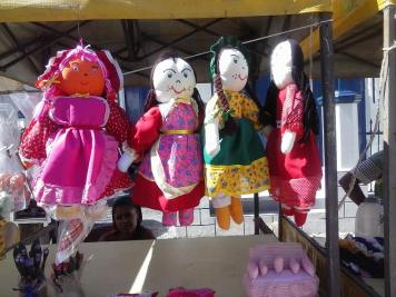 Boneca de pano - artesanato da Feira dos Caxixis - Foto: Norberto Nicory