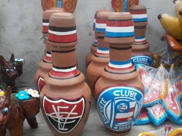 Feira dos Caxixis - Nazaré/BA - Muringa de barro de Bahia e Vitória