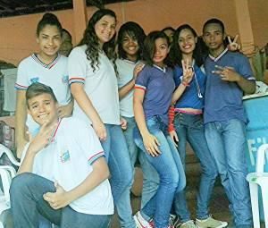 Estudantes do Colégio Estadual José Marcelino de Souza - Nazaré/BA